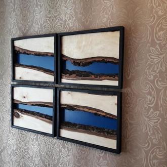 Модульная эко картина, настенное панно