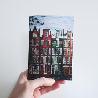 Авторский блокнот Амстердам. Бежевые страницы. Формат А6