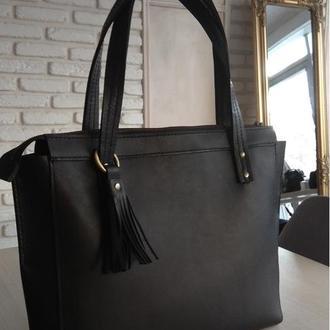 Стильная сумка smart - натуральная кожа
