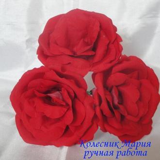 Цветок Красная роза для творчества, 3шт