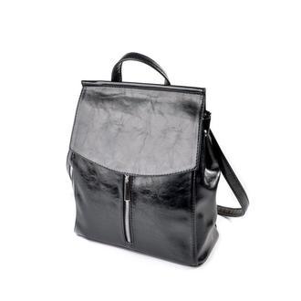 Городской рюкзак-сумка трапеция текстура масло