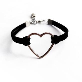 """Браслет """"Black Heart"""" / украшение прикраса"""