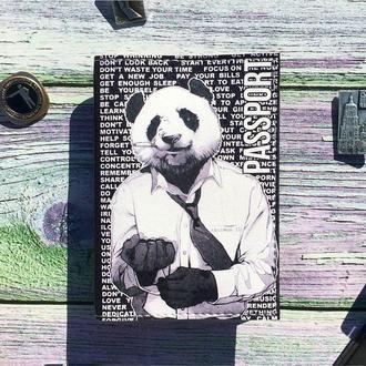 Обложка для паспорта с пандой