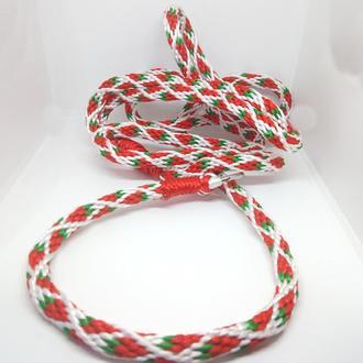 Поводок-ошейник для собак КЛУБНИКА 200 см