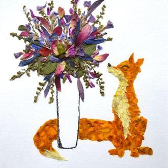 Картина з пресованої флористики
