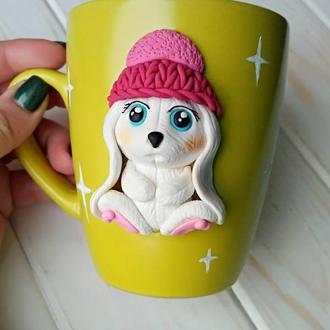 Чашка кролий, Banny, красивая чашка, красивый подарок, милая чашка