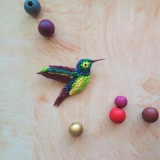 Птичка Колибри из полимерной глины