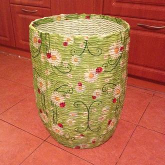 Новая плетенная цветная корзина для белья, игрушек