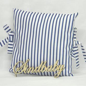 Бортики подушки в кроватку, Подушка бязь 30х30 -76