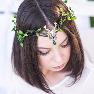 Тиара эльфийская, корпоратив для эльфов, украшение на голову для фестивалей, корона свадьба эльфов
