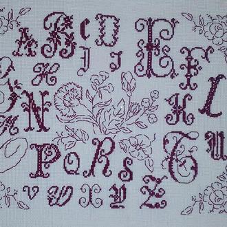 Вышивка «Английский алфавит»