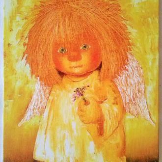 "Картина на холсте ""Ангел с гиацинтом"""