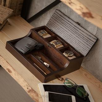 Деревянная шкатулка для часов и аксессуаров DABO Hetch DS5 Wenge