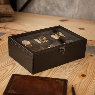 Деревянная шкатулка для хранения часов Hetch DS2 - Wenge на 6 отделений