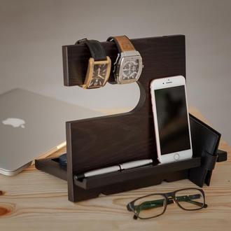 Деревянная подставка для телефона и аксессуаров Domik.shop