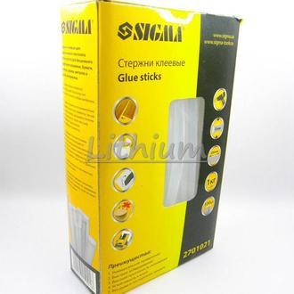 Стержни клеевые Sigma 8 x 200 мм прозрачные 100 шт упаковка 1 кг Термоклей, Силиконовый клей
