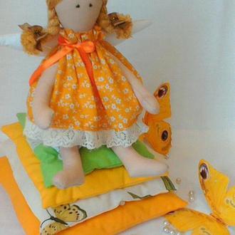 Кукла из ткани Принцесса на Горошине ручной работы