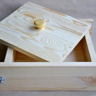 Форма для мыла деревянная квадратная 24*24*6 см Украина