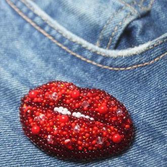 Брошь Губки Lips