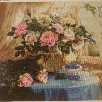 "Готовая картина ""Ваза с цветами"""