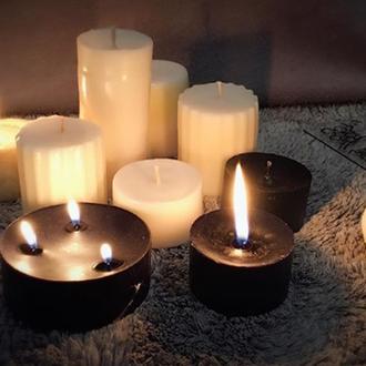 Light & shadow.Шикарные черные и белые свечи ручной работы.