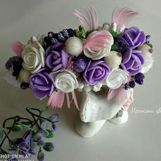Нежные цветы на обруче