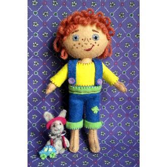 кукла из фетра - мальчик