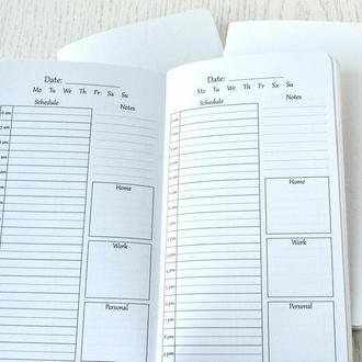 Сменные тетради к блокноту Midori - Ежедневник с часами