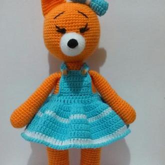 Лисичка. Лиса. Вязаная игрушка. В'язана лисичка.