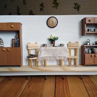 """Полотенечница (вешалка, ключница) для кухни в стиле рустик """"Время пить чай"""""""