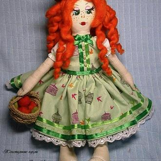 Текстильная кукла Дуняша