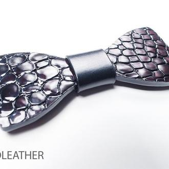 Галстук-бабочка из натуральной кожи