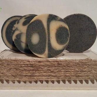 """Мыло """"Детокс"""" с активированным углем и эфирным маслом чайного дерева Home Secret"""