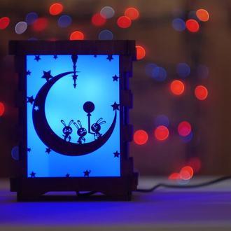 Светильник оригинальный необычный для ребенка в детскую комнату