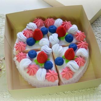 Торт з фетру / Ігрова їжа / Торт из фетра / Игровая еда