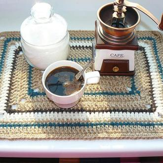Салфетка сервировочная из джута прямоугольная