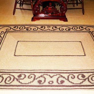 Ковер из джута с орнаментом прямоугольный