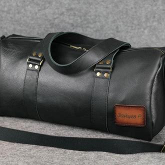 Именная спортивная сумка «Travel» |10153| Люксор фактурный| Черный