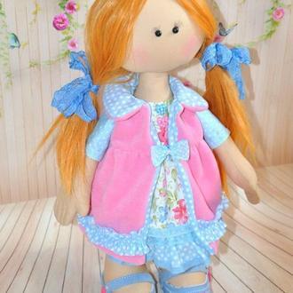 Текстильная куколка. Рыжуха Kate, 46 cm