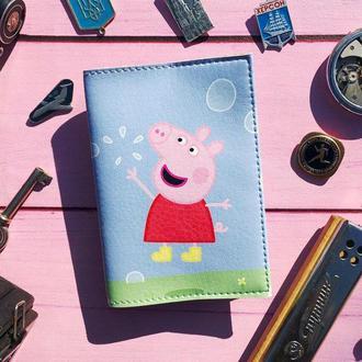 Обложка на паспорт, Свинка Пеппа, паспортная обложка, обложка для паспорта