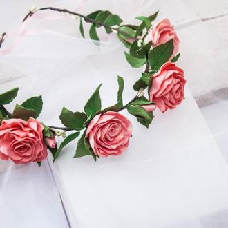 """Венок с розами """"Нежность"""""""