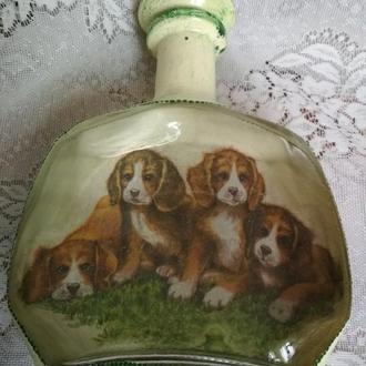 "Сувенирная бутылка ""Щенки"""
