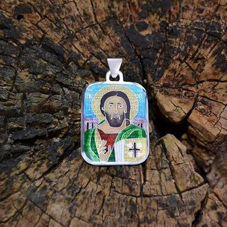 """Подвеска-икона """"Христос Пантократор"""". Икона из Синайского монастыря. VI в."""