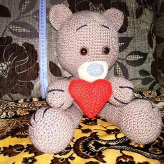 Мишка Тедди вязаный крючком
