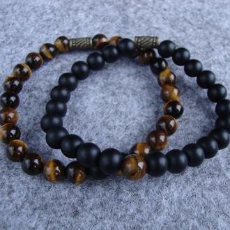 Парные браслеты из натурального камня
