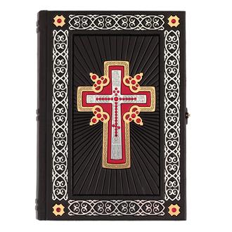 Подарочная Библия с кристаллами Swarovski в кожаном переплете