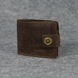 Классическое мужское портмоне (с карманом для мелочи) |10405| Шоколад