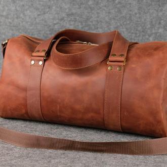 Именная спортивная сумка «Travel» |10196| Коньяк
