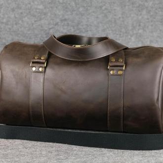 Именная спортивная сумка «Travel» |10197| Шоколад