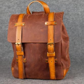 Мужской рюкзак HANKLE H1 |13204| Коньяк + Янтарь
